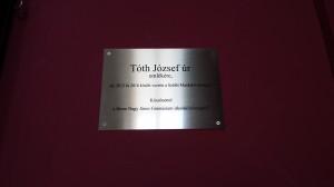 Tóth József emléktábla